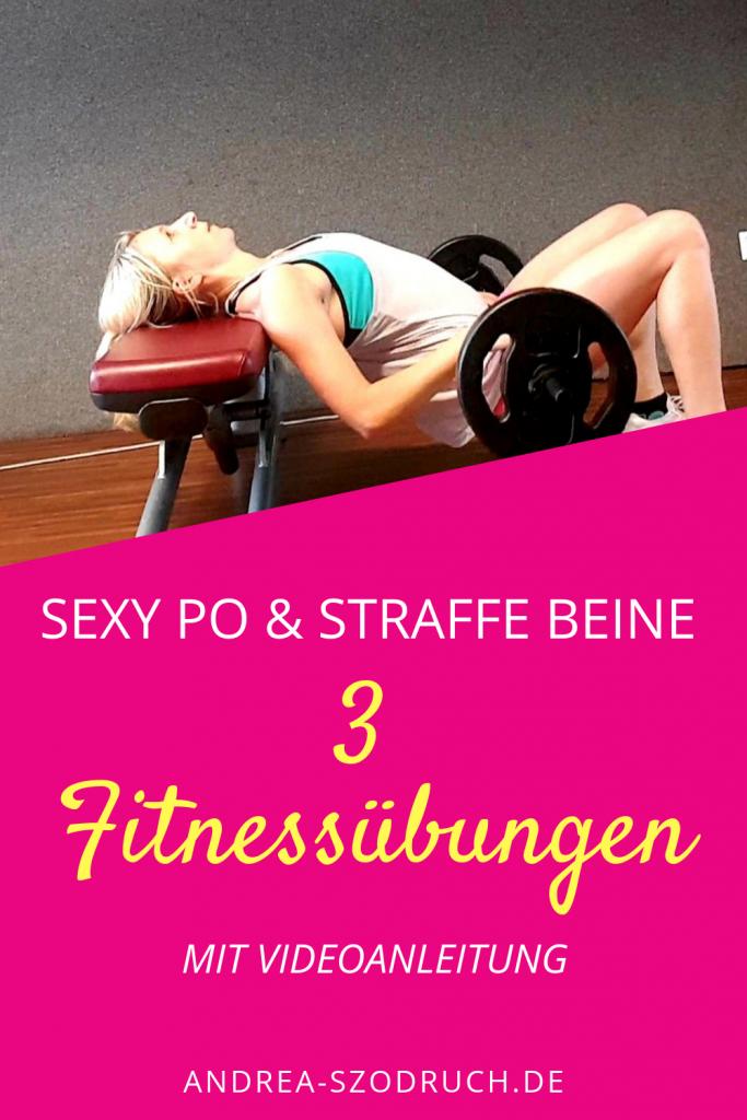 Fitnessübung für einen sexy Po und straffe Beine