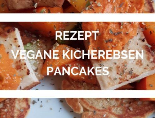 Kichererbsen Pancakes mit Kürbis