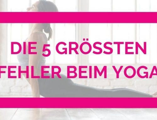 Die 5 größten Fehler beim Yoga